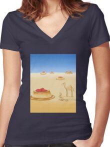 Desserts in the Desert Women's Fitted V-Neck T-Shirt