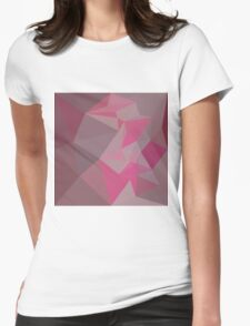 Fandango Pink Abstract Low Polygon Background Womens Fitted T-Shirt