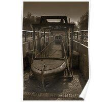 Barge in Drydock Poster