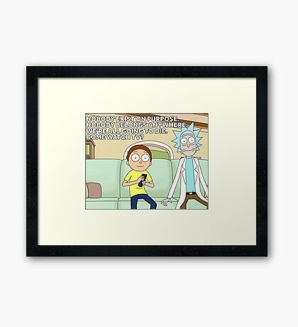 come watch tv Framed Print