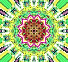 Lime Green Citrus Abstract by Phil Perkins