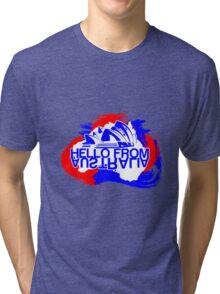 Hello from Australia Tri-blend T-Shirt