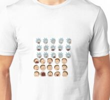 rick and morty face expressions Unisex T-Shirt