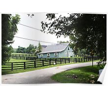 PRETTY BLUE BARN Poster