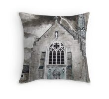 Chapel in a storm Throw Pillow