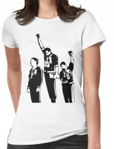 1968 Olympics Black Power Salute Womens Fitted T-Shirt