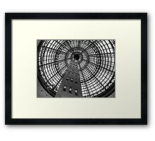 Open Star Bay Doors - Coops Shot Tower Angle 5,(Monochrome)  Melbourne Framed Print