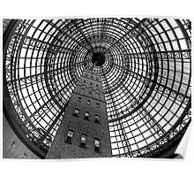 Open Star Bay Doors - Coops Shot Tower Angle 5,(Monochrome)  Melbourne Poster