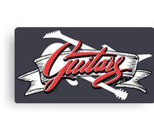 Two Guitars banner (white guitars) Canvas Print