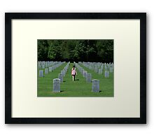 Where are you Daddy? Framed Print
