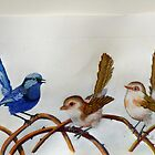 "Blue Wrens  ""The Trio"" (sold) by Sandra  Sengstock-Miller"