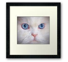 His Eyes Are Like the Sea to My Soul Framed Print
