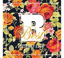 Shabby Chic Flowers Graphic Design Photographic Print