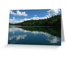 Pink Lake ~ Midday Reflections Greeting Card