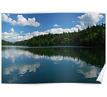 Pink Lake ~ Midday Reflections Poster