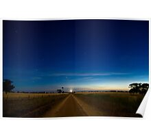 Country Road by Moonlight. Poster