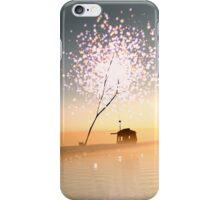 Barn on a magical island. iPhone Case/Skin