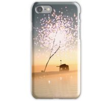 Barn on a magical island. iPhone Case/Skin
