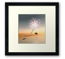 Barn on a magical island. Framed Print