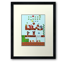 Pixel game characters fighting Framed Print