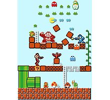 Pixel game characters fighting Photographic Print