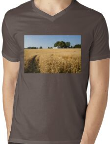 A Path in the Golden Wheat Field Mens V-Neck T-Shirt