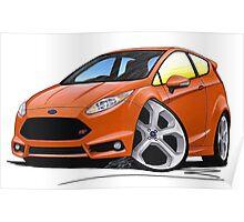 Ford Fiesta (Mk7) ST Orange [NoPlate] Poster