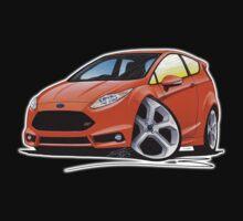 Ford Fiesta (Mk7) ST Orange [NoPlate] Kids Tee