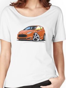 Ford Fiesta (Mk7) ST Orange [NoPlate] Women's Relaxed Fit T-Shirt