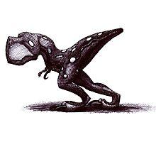 Cute but dangerous baby T-Rex Photographic Print