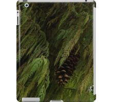 High Key Christmas Greenery With Giant Sugar Pine Cones iPad Case/Skin