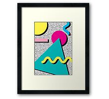 1980s Abstract Pattern Framed Print
