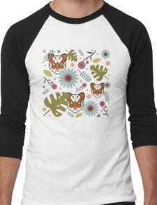 Tigers in the Jungle Men's Baseball ¾ T-Shirt