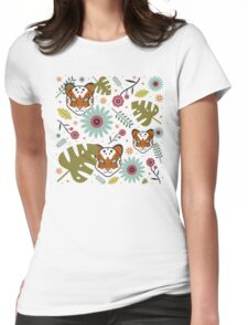 Tigers in the Jungle Womens Fitted T-Shirt