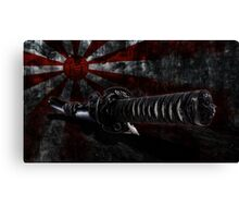 Japan grunge wall with sword Canvas Print