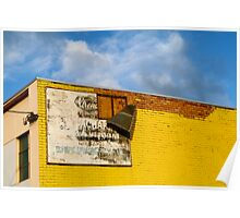Shady Billboard on Yellow Wall Poster