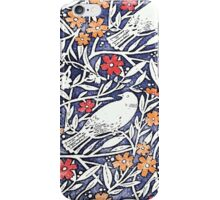 Blue Bird Freehand Sketch Watercolor Background iPhone Case/Skin