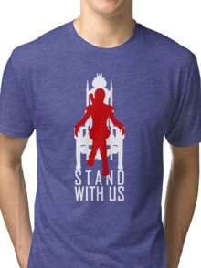 Stand with us Tri-blend T-Shirt