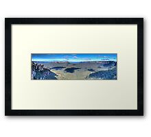 Three Sisters to Jamison Valley Framed Print