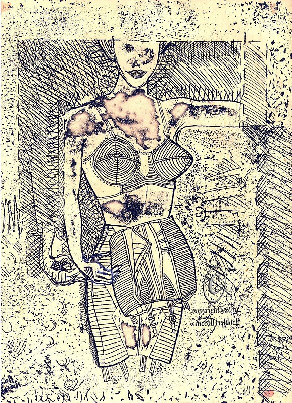 'Figure of Woman from 1950's Corset Ad.' by sally787
