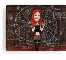 Librarians Apple ( evil ) Cassandra Canvas Print