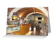 Siena Cafe Greeting Card