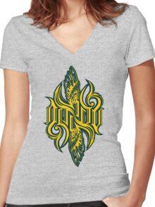 Angel3K Print Women's Fitted V-Neck T-Shirt