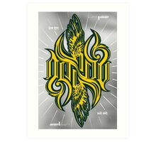 Angel 3K ambigram Art Print