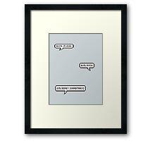 Punk Rock Disney Framed Print