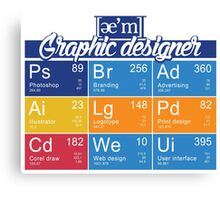 ae'm graphic designer Canvas Print