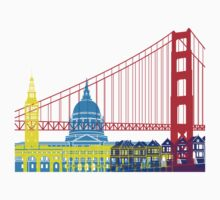 San Francisco skyline pop Kids Tee