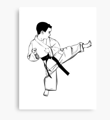 Karate Canvas Print