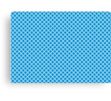 Blue Dots Pattern Canvas Print