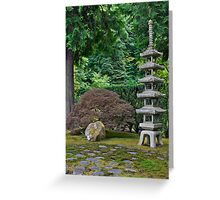 Japanese Stone Pagoda Greeting Card